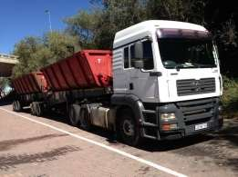 Available 30 ton side tipper for hire