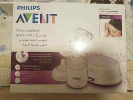 Avent breast electric pump and breast pads and breast soother
