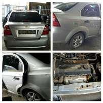 Stripping Chevrolet Aveo for spare parts