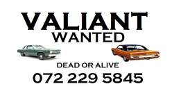 Valiant car wanted for cash