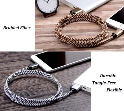 Micro USB Cable Braided 10ft, Pack 2 High Speed 10ft 3m Premium Nylon Nairobi West - image 3