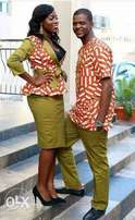 Kitenge skirt suit and mens kitenge suit