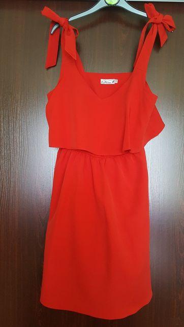 Czerwona sukienka zara 36 S Jurków • OLX.pl