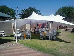 stretch tents,tables,tiffany,plastic chairs,linen for hire.we do decor