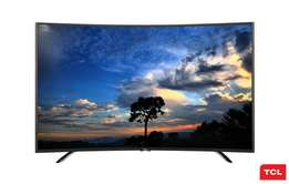 "New TCL 48"" SMART CURVED T.V Model C48P1FS Pay on delivery or shop"