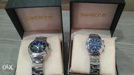 Swatch chain couple wristwatch.