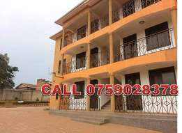 Tiled 2 bedroom apartment for rent in Namugongo at 550k