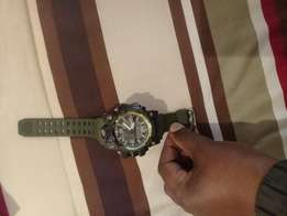 G shock black nd green military