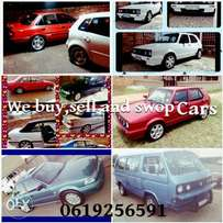 we buy.sell and swop cars