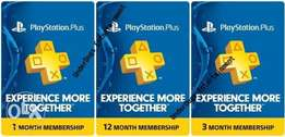 Playstation PS Plus Subscriptions,PSN,Wallet Top Up, Xbox live Gold