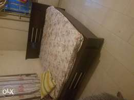 7x7 bed frame and mattress for sale