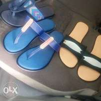 Handmade leather slippers and sandal.
