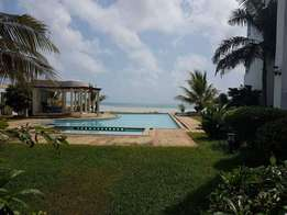 Nyali Beach side 3 bedroom fully furnished apartment with servant quar