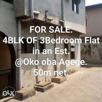Neat 4 Block of 3Bedroom Flat in an Estate for Sale.