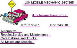 J&K mobile mechanic 24/7/365 vehicle repairs,service&maintenance+2
