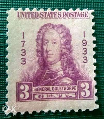 US 3c 1933 General Oglethorpe stamp #726
