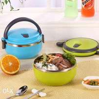 1Layer Stainless Steel Thermal Insulated Round Lunch Box/Container