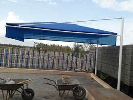 Portable blue carport
