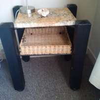 Pair of Bedside / Coffee Tables with Granite Tops