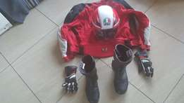 Bargain buy: helmet, gloves, jacket and boots