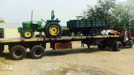 John Deere 75hp tractor 2WD with ascessories
