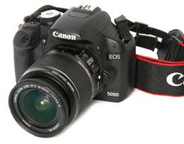 Canon EOS 500D (T1i) with all accessories