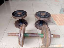 Weight lift: double-bell 8kg each and detachable weight lift 20kg