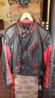 Leather mens motorcycle jacket