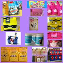 Party packs, buckets & bags