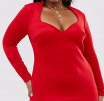 PRZECENA!!Asos Club L czerwona sukienka midi roz.444648