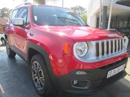 Jeep Renegade 1.4i Tjet LTW AWD Auto, 2016, 2000km, Red Colour