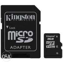 8gig Micro-sd memory cards plus adoptor