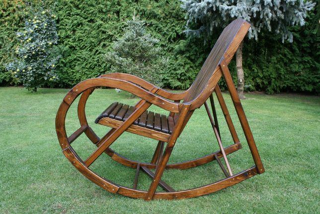 Solidne Drewniane Ogrodowe Krzesło Fotel Bujany Własnej
