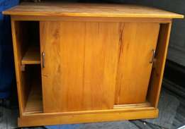 Solid Pine Wood Credenza