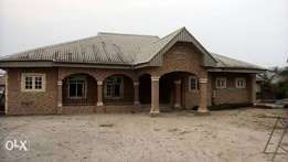 A furnished 5 Bedroom Bungalow all En-Suits at Agbarho, Delta State
