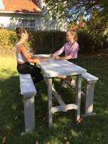 4 seater bar table and bench