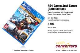 PS4 Game: Just Cause (Gold Edition)