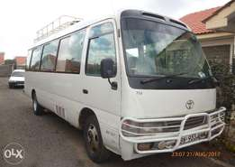 A Well maintained Toyota Coaster