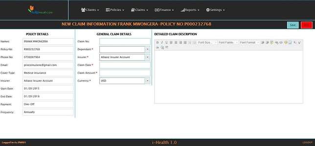 Insurance/Insurance Company Management System/Software- 250,000= Bute Ogotha - image 3