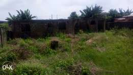 Uncompleted 3Brm setback bungalow on a plot Off Akesan rd Lasu Iba rd
