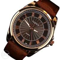 Yazole quartz leather brown men unique elegant wrist watch