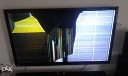 Cracked tv