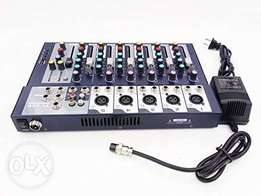 7 Channel Audio Mixer 5 XLR inputs with effects