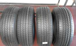 265/70/16 4x new general grabber onroad tyres R5499