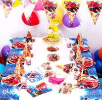 Spider man party kit for 6 guests
