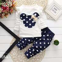 Baby girls long sleeve and pants