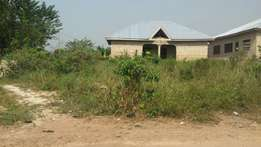 Uncompleted house n plot at kumasi meduma