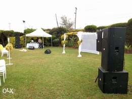 Full Sound System to make your event memorable for hire