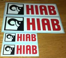 Decals graphics for HIAB trucks