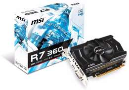 MSI Radeon R7 360 OC Edition 2GB Graphics Card for sale
